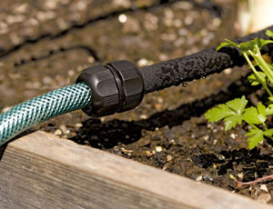 avoid drought damage with soaker hoses