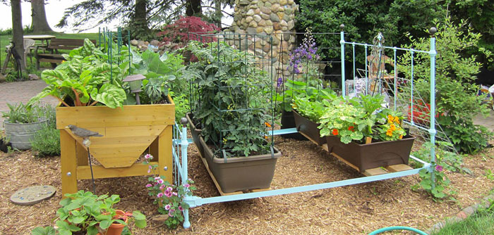 Make A Raised Bed From An Old Bed Frame Gardener S Journal