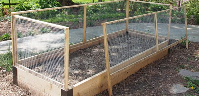 Customized Corners Protect Raised Bed.